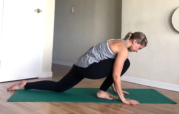 Low Lunge Ankle Stretch
