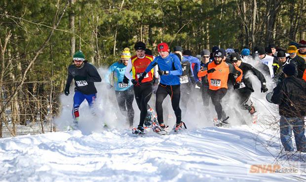 Snowshoe racing.