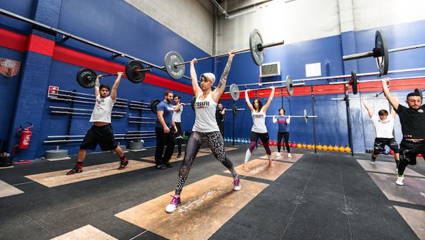 People doing CrossFit.