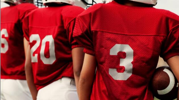 Back of Football Players