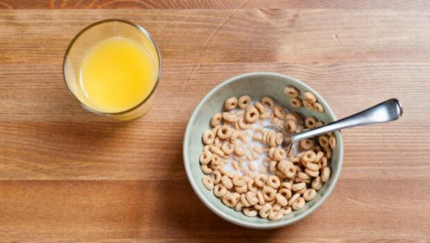 Breakfast Cereal and Orange Juice