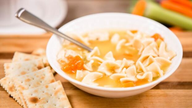 Crackers and Chicken Noodle Soup