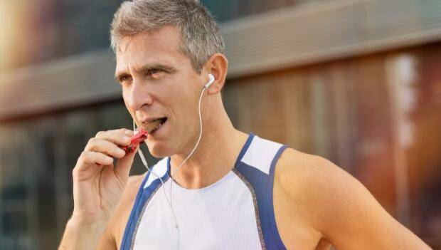 Man Eating Snack Food