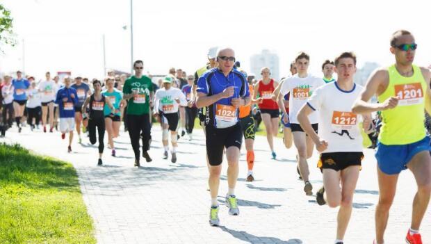 Marathon Athletes on Street