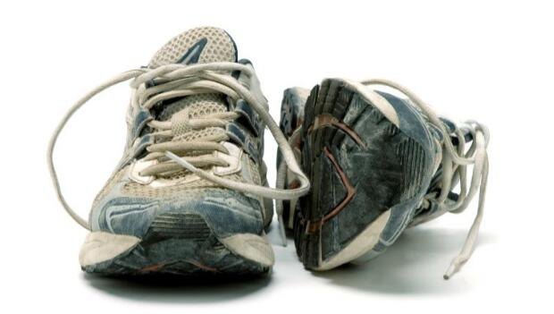 Pair of Old Running Shoes