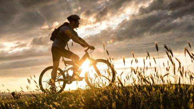 Silhouette of Mountain Biker