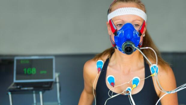 VO2 Test for Runner on Treadmill