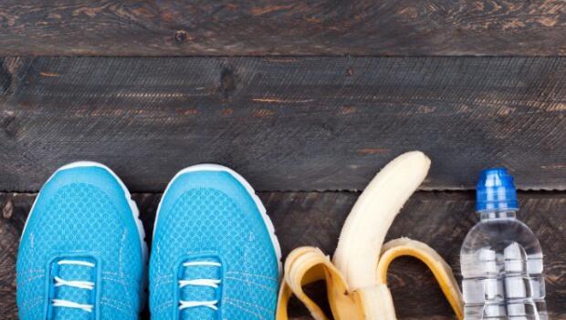 Banana, Water and Running Shoes