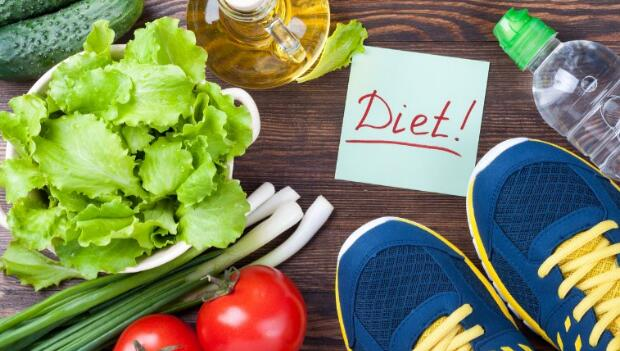 Diet Food and Running Shoes