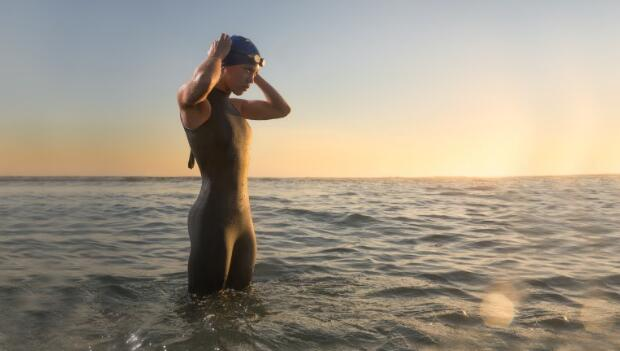 Triathlete in Water