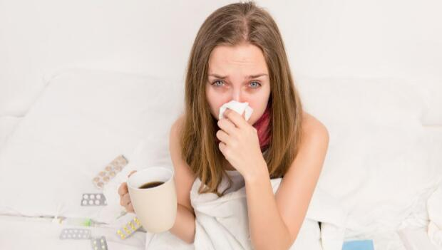 Woman Has a Cold