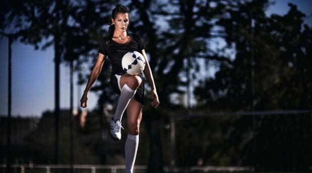 Woman Juggling the Ball