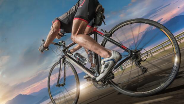 Legs of Cyclist