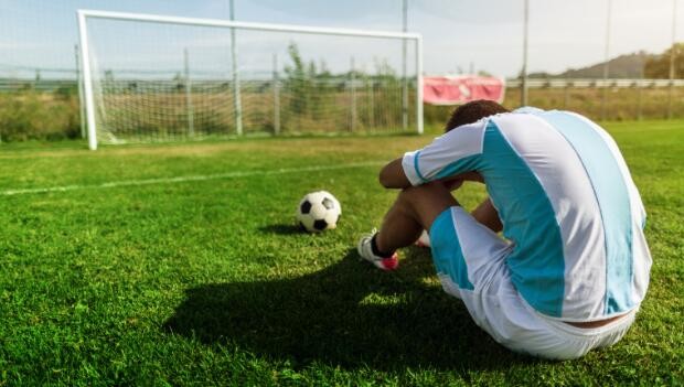 Tired Soccer Player