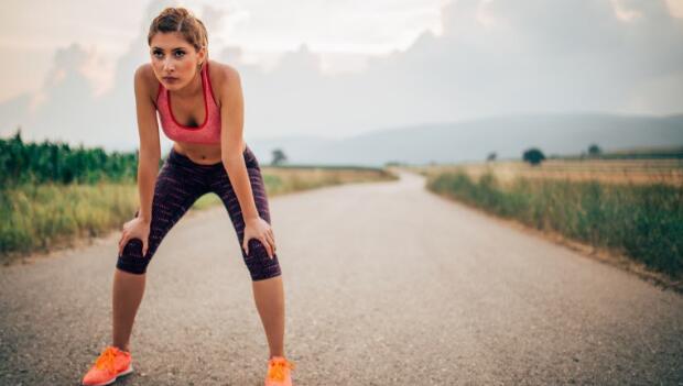 Resting Female Runner