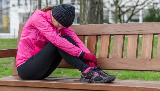 Depressed Female Runner