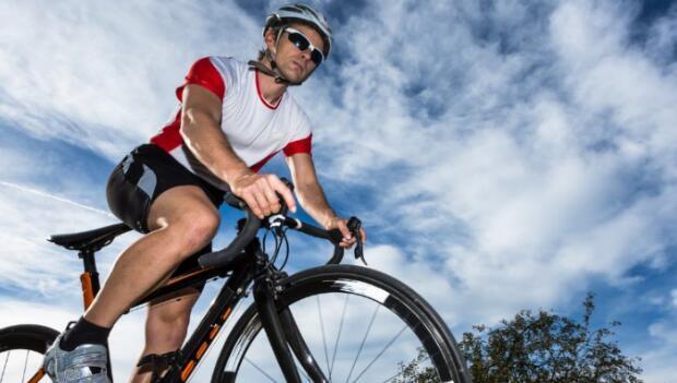Cyclist Under Sky