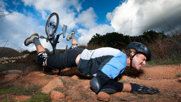 Cyclist Tumbled to Ground