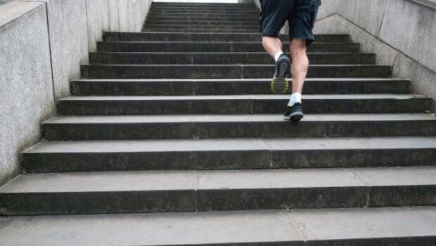 Man Running on Stairs