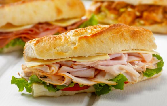 Turkey and Provolone Sandwich