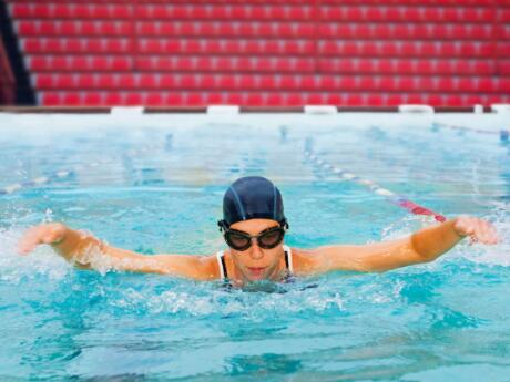 5k swimming how many lengths