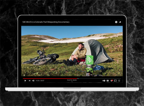 Backpacking youtube video front