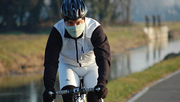 cold cyclist