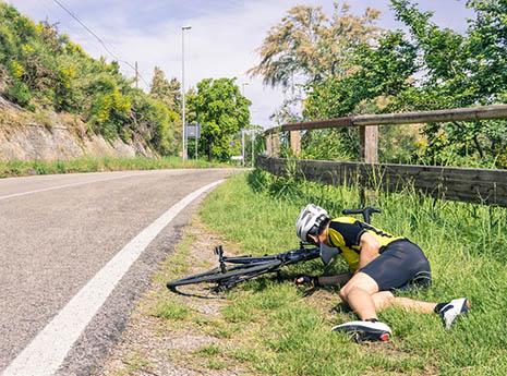 Bike+crash front