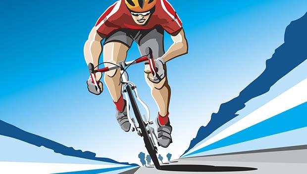 cyclist illustration