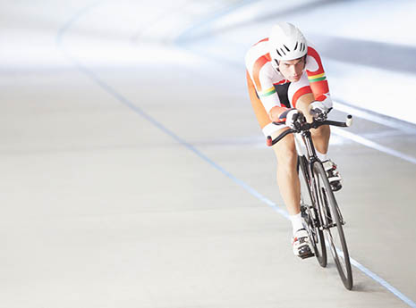 Track+cyclist front