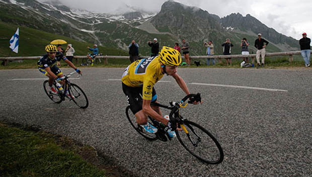 Chris Froome and his bike