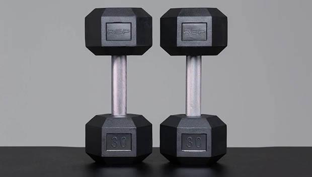 6-REP Fitness Hex Dumbbells
