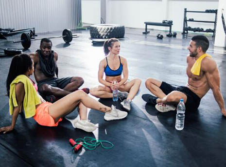 People+talking+after+a+workout front