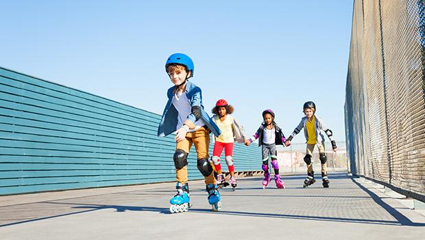 kids roller blading