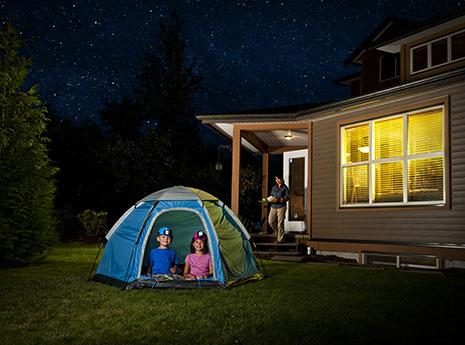 Backyard camping front
