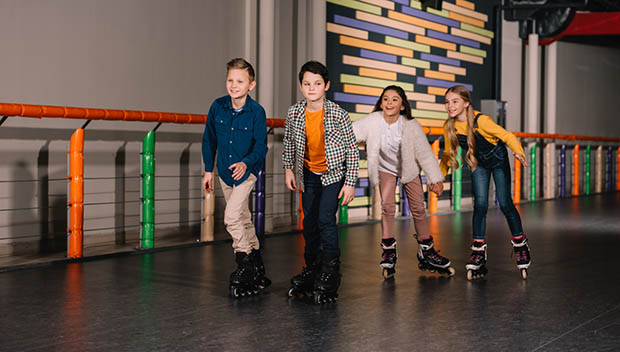 kids roller skating
