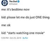 Funny Tweets About Bedtime Struggles