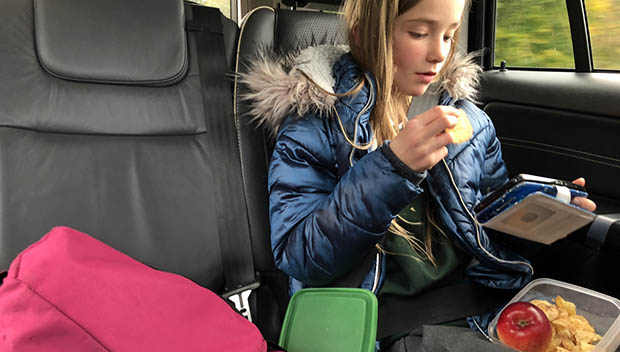 kid eating a snack