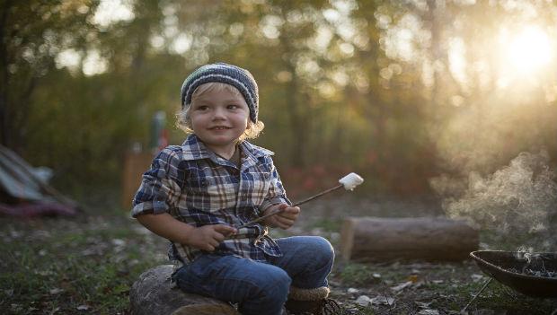 Cute Boy Camping