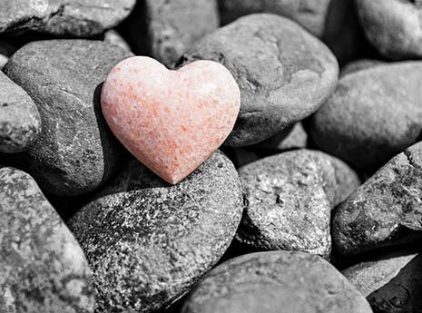Heart+rock front