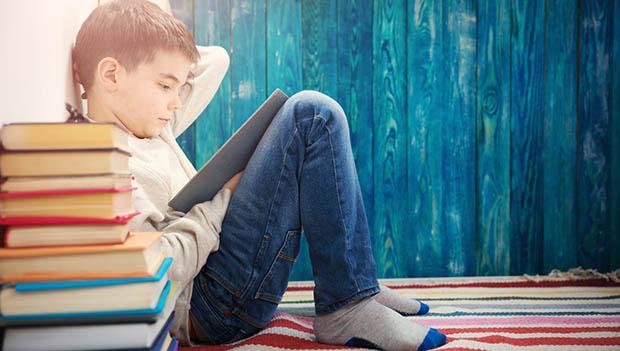 """kid reading"