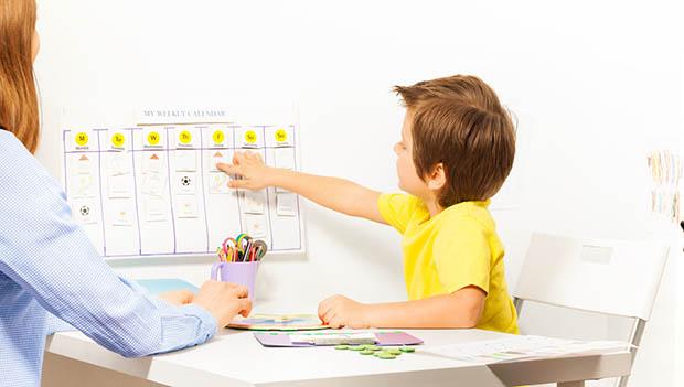 kid with calendar