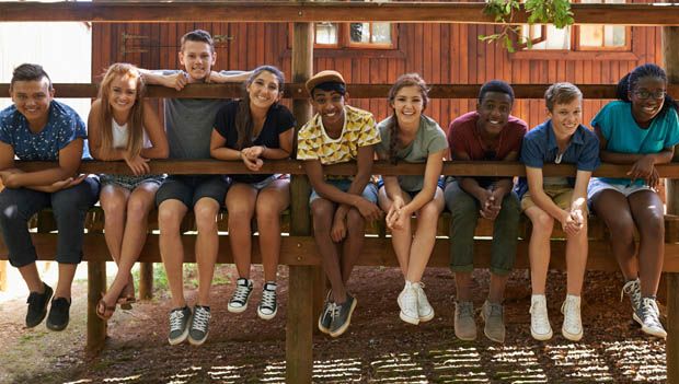 teens at camp