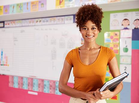 Teacher front