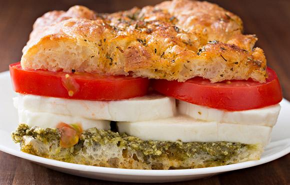 Healthy After School Snacks | Caprese Sandwich | Beanstalk Mums