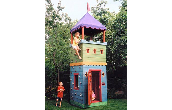 Castle Fort - 10 Incredible DIY Backyard Forts For Kids ACTIVEkids
