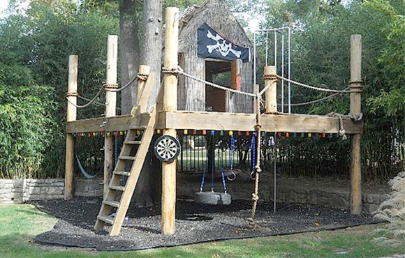 Pirate Ship Fort - 10 Incredible DIY Backyard Forts For Kids ACTIVEkids