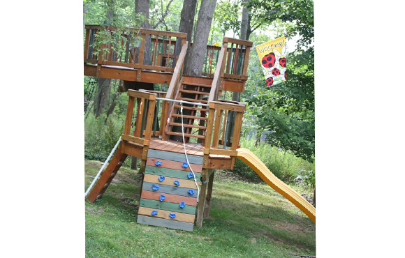 Double Decker Fort - 10 Incredible DIY Backyard Forts For Kids ACTIVEkids