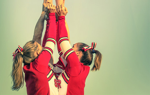 the basics of cheerleading stunts activekids Cheerleading Jumps Diagram second and third positions