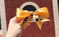 4 DIY Softball Bows